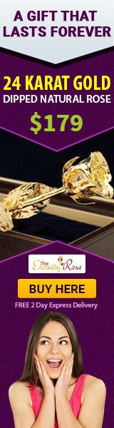 24 karat gold rose